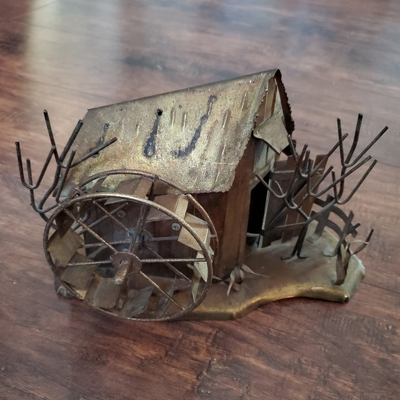 Vintage Copper Mill House Statue
